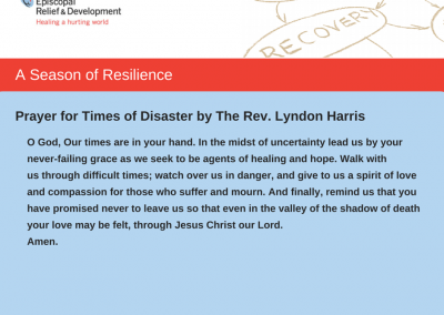 A Season of Resilience- Prayer