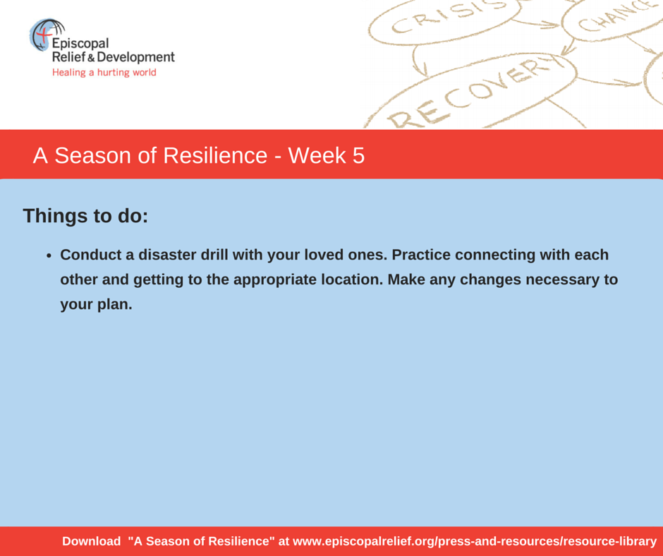 A Season of Resilience- Week 5 Things to Do