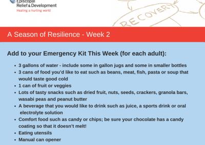 A Season of Resilience- Week 2 Emergency Kit