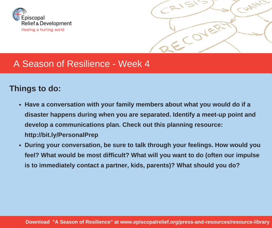 A Season of Resilience- Week 4 Things to Do
