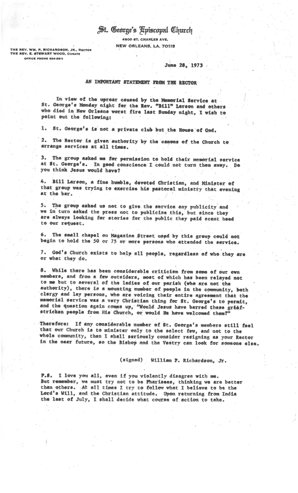 Fr Richardson Letter