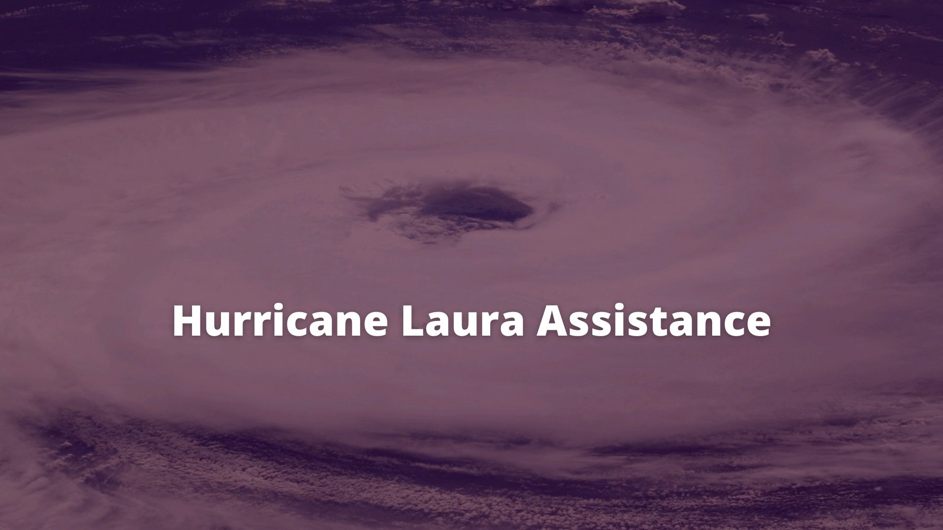 Hurricane Laura Assistance