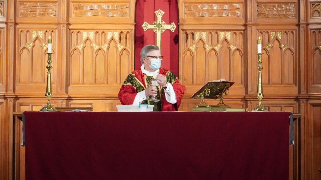 bishop celebrating Holy Eucharist