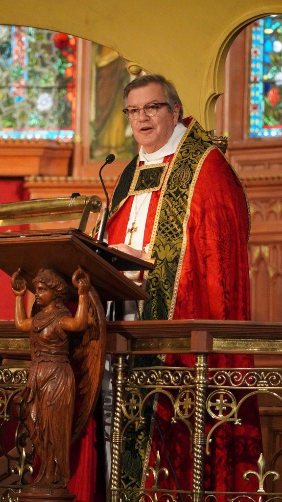 bishop delivering sermon