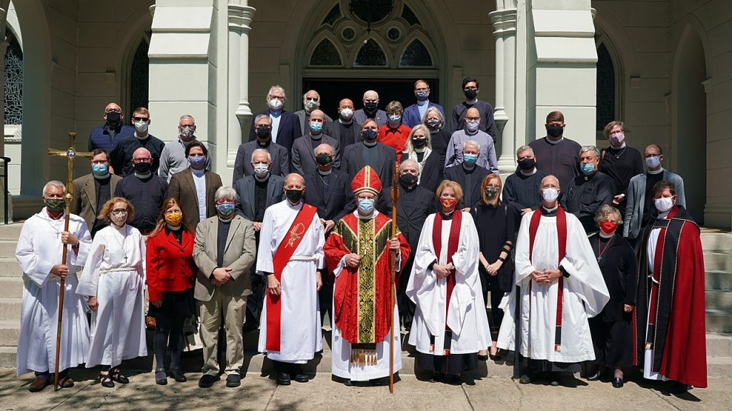 Clergy Group photo in front of Cathedral