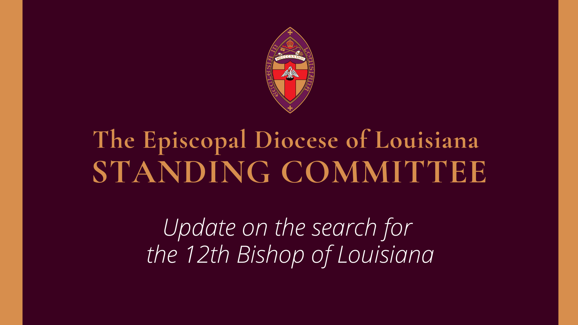 Update on Search and Election Process for the 12th Bishop of Louisiana